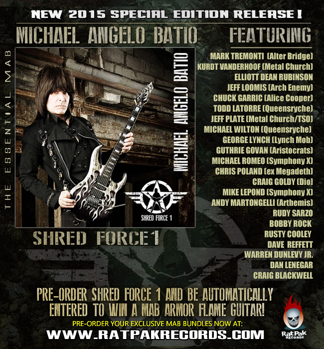 Michael Angelo Batio releasing new album, Shred Force 1!