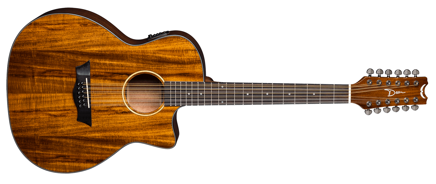 AXS Exotic Cutaway A/E 12 String Koa
