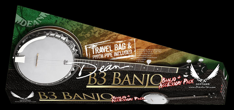 Banjo Pack w/Gig Bag Strap & Pitch Pipe