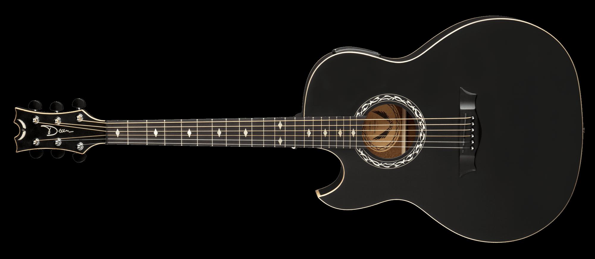 exhibition acoustic electric black satin lefty dean guitars. Black Bedroom Furniture Sets. Home Design Ideas