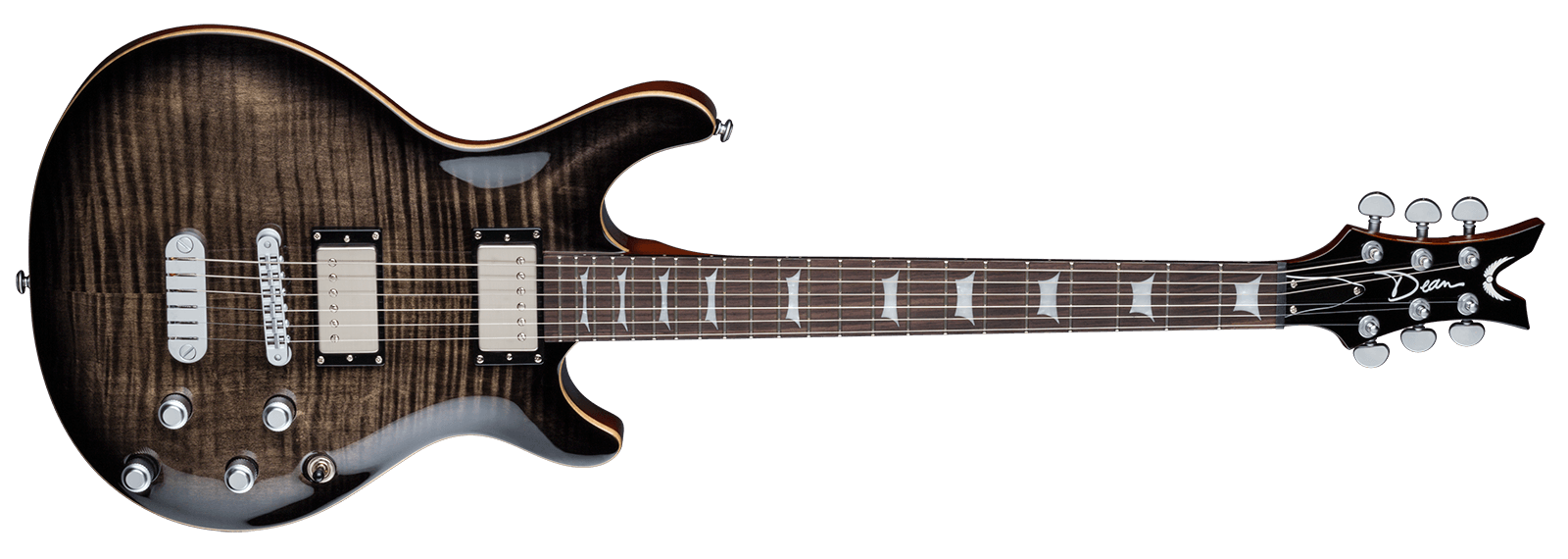 Icon Flame Top Charcoal Burst