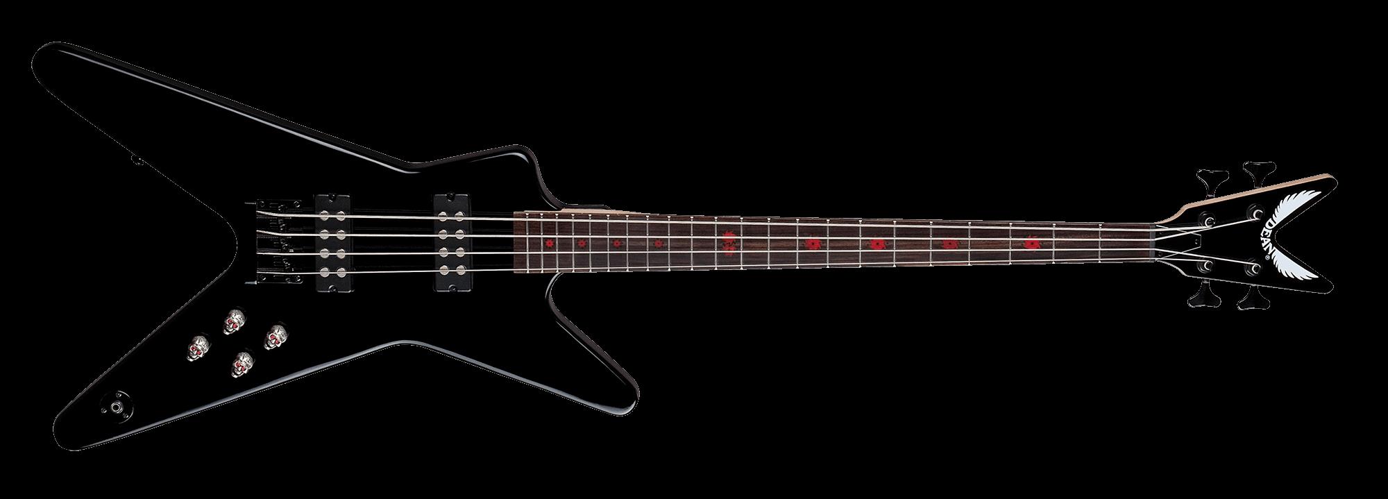 ml metalman bass w active eq cbk dean guitars
